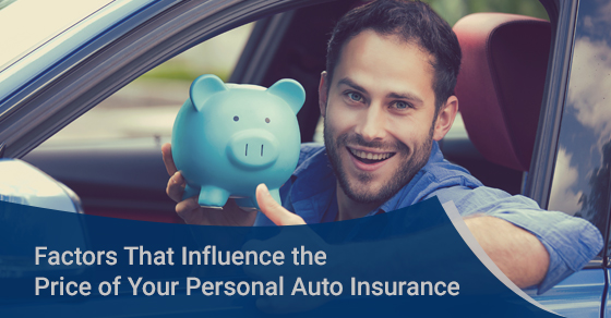 Factors that influence the price of personal auto insurance